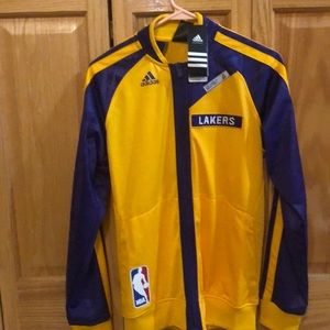 Adidas NBA Lakers On Court Jacket NEW SMALL